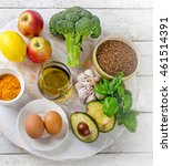 food for healthy and clean... | Shutterstock . vector #461514391