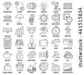 modern thin line icons set of... | Shutterstock .eps vector #461515834