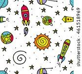 seamless pattern. cosmic...   Shutterstock .eps vector #461518969