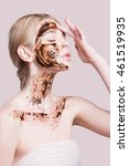 coffee peeling for face and... | Shutterstock . vector #461519935