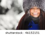 winter woman | Shutterstock . vector #46152151