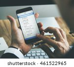 office checking email mobile... | Shutterstock . vector #461522965
