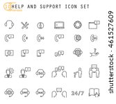 collection of help and support... | Shutterstock .eps vector #461527609