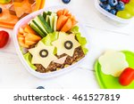 school lunch box for kids. back ...   Shutterstock . vector #461527819