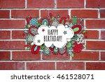 bright colored happy birthday...   Shutterstock . vector #461528071