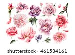 watercolor set with different... | Shutterstock . vector #461534161