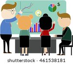 characters of business people... | Shutterstock .eps vector #461538181