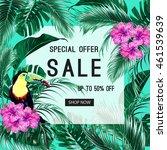 sale banner  poster. toucan ... | Shutterstock .eps vector #461539639