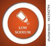 low sodium icon. internet...   Shutterstock . vector #461543794