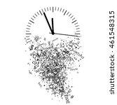 vector illustration of clock | Shutterstock .eps vector #461548315