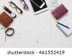 travel concept with men's... | Shutterstock . vector #461552419