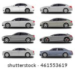 realistic car. sedan set | Shutterstock .eps vector #461553619