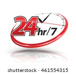 24hr services with clock scale... | Shutterstock .eps vector #461554315