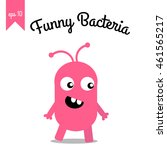 bacteria with facial... | Shutterstock .eps vector #461565217