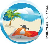 jet boat and sea | Shutterstock .eps vector #46156966
