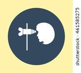 web icon of eye checkup. | Shutterstock .eps vector #461585275