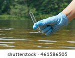 sample water from the river for ... | Shutterstock . vector #461586505