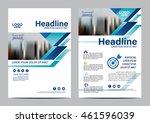 blue brochure layout design... | Shutterstock .eps vector #461596039