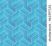 seamless blue vector pattern.... | Shutterstock .eps vector #461597131