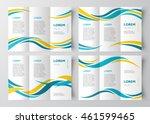 brochure design template tri... | Shutterstock .eps vector #461599465
