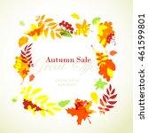 vector illustration autumn sale ...   Shutterstock .eps vector #461599801