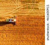 harvester machine working in... | Shutterstock . vector #461600911
