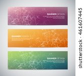 banners with abstract colorful... | Shutterstock .eps vector #461607445