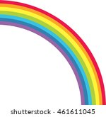 cute rainbow background and... | Shutterstock .eps vector #461611045