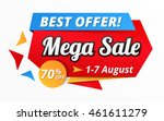 best offer mega sale banner ... | Shutterstock .eps vector #461611279