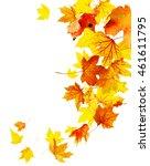 autumn falling maple leaves... | Shutterstock . vector #461611795