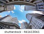 manhattan skyscrapers at the... | Shutterstock . vector #461613061