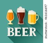 background design with beer...   Shutterstock .eps vector #461616697