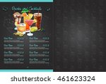 color horizontal menu design | Shutterstock .eps vector #461623324