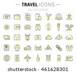 set vector line icons  travel ... | Shutterstock .eps vector #461628301