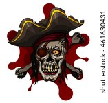 danger pirate skull in bandanna ... | Shutterstock .eps vector #461630431