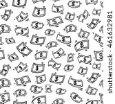 seamless pattern with funny... | Shutterstock .eps vector #461632981