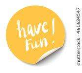 orange circle sticker with... | Shutterstock . vector #461634547