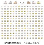 big set 210 pieces emotions... | Shutterstock .eps vector #461634571