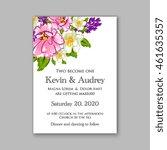 wedding  invitation or card ... | Shutterstock .eps vector #461635357