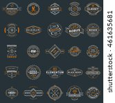set of vintage retro logotype... | Shutterstock .eps vector #461635681