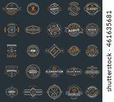 set of vintage retro logotype... | Shutterstock .eps vector #461635681