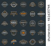 set of vintage retro logotype... | Shutterstock .eps vector #461635744