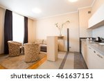 hotel apartment living room and ... | Shutterstock . vector #461637151