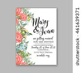 wedding  invitation or card ... | Shutterstock .eps vector #461639371