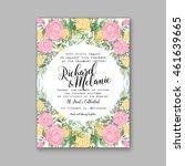 wedding  invitation or card ... | Shutterstock .eps vector #461639665