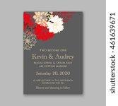 wedding  invitation or card ... | Shutterstock .eps vector #461639671