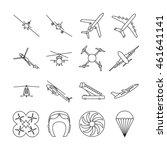 Aviation Thin Line Vector Icon...