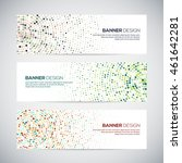 banners with abstract colorful...   Shutterstock .eps vector #461642281