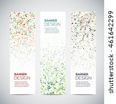 banners with abstract colorful... | Shutterstock .eps vector #461642299