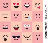 set of emoticons | Shutterstock .eps vector #461646274